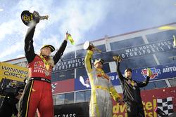 Top Fuel winner Leah Pritchett, Funny Car winner Matt Hagan, Pro Stock winner Greg Anderson
