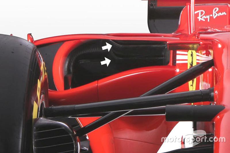 Ferrari SF70H, dettaglio delle bocche laterali