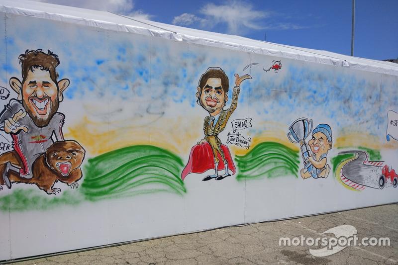 Карикатуры на гонщиков на Гран При Испании