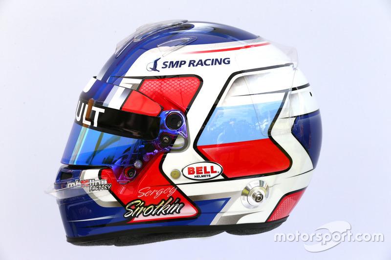 Helm von Sergey Sirotkin, Renault Sport F1 Team