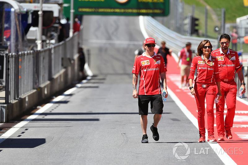 Kimi Raikkonen, Ferrari, Stefania Bocchi