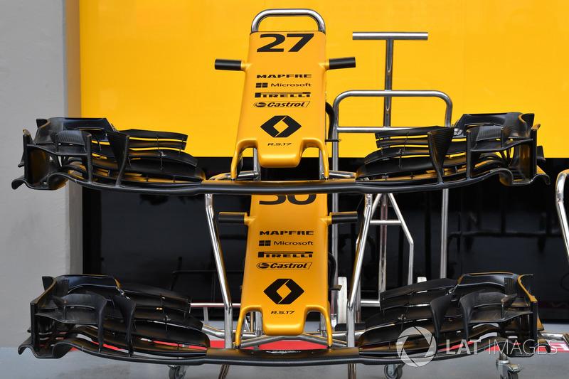 Renault Sport F1 Team RS17, Nase und Frontflügel