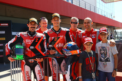 Eugene Laverty, Milwaukee Aprilia, Lorenzo Savadori, Milwaukee Aprilia with Milwaukee Aprilia team