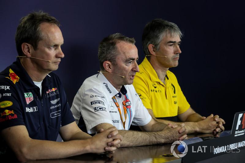 Paul Monaghan, Red-Bull-Chefingenieur, Paddy Lowe, Williams-Technikchef, Nick Chester, Renault-Techn