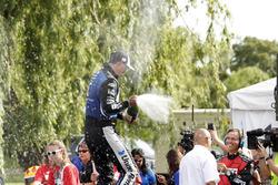 Podium: race winner Graham Rahal, Rahal Letterman Lanigan Racing Honda
