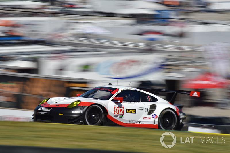 #912 Porsche Team North America Porsche 911 RSR: Gianmaria Bruni, Laurens Vanthoor, Earl Bamber
