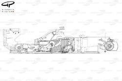 Ferrari F138 exploded side view
