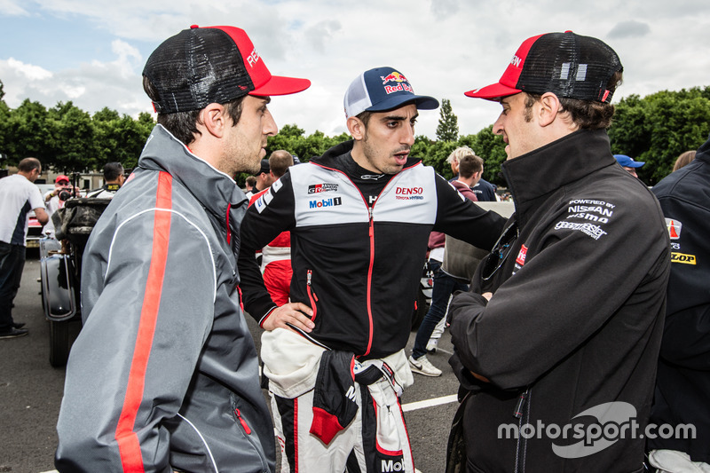 Nicolas Prost, Sébastien Buemi and Mathias Beche