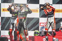 Podium: Sieger Tom Sykes, Kawasaki Racing