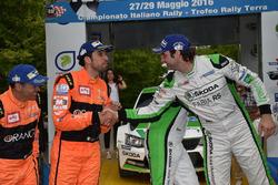 Umberto Scandola, Guido D'amore Skoda Fabia R5, Simone Campedelli, Danilo Fappani, Ford Fiesta R R5 #6