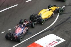 Данііл Квят, Scuderia Toro Rosso STR11 і Кевін Магнуссен, Renault Sport F1 Team RS16, контакт