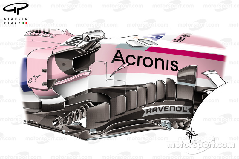 Force India nuevo bargeboard