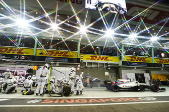 Lance Stroll, Williams FW41 na pitstop