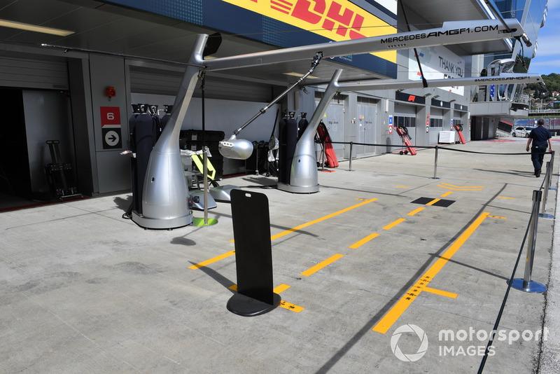 L'emplacement de Mercedes AMG F1 dans les stands