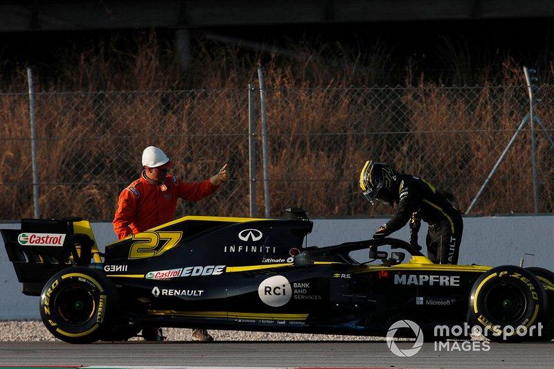 Nico Hulkenberg, Renault F1 Team R.S. 19 si ferma in pista