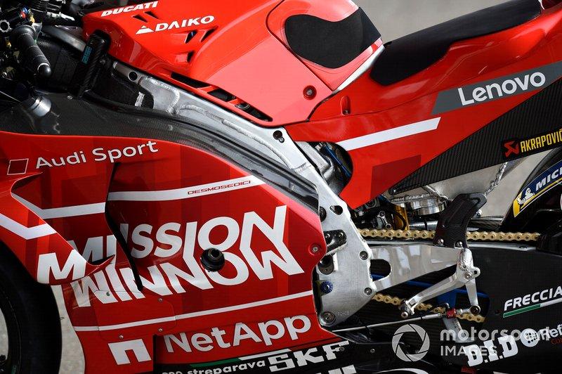 Dettaglio del telaio Ducati