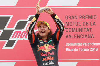 Podium: race winner Can Oncu, Red Bull KTM Ajo