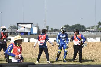 Sturz: Andrea Iannone, Team Suzuki MotoGP