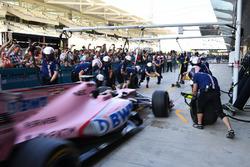Sahara Force India practice pit stops