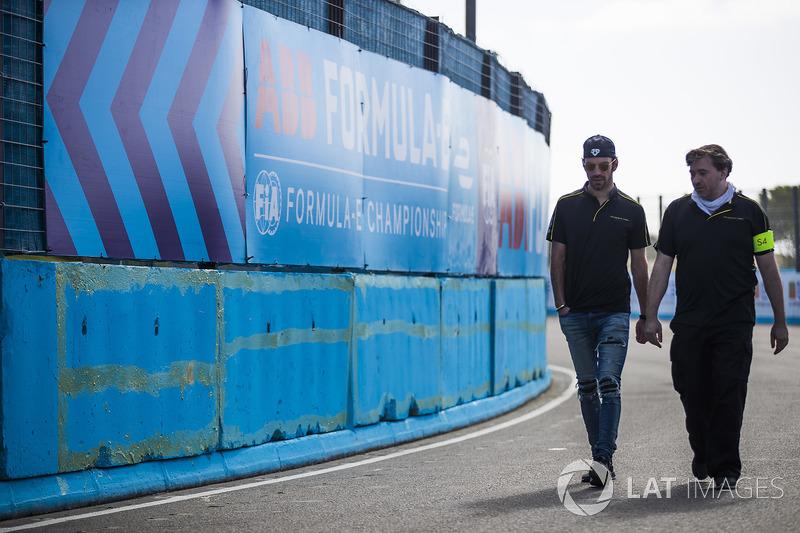 Jean-Eric Vergne, Techeetah, walks the track