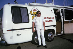 Lord Alexander Hesketh outside his new motorhome