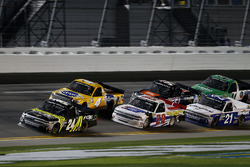 Justin Haley, GMS Racing Chevrolet Silverado leads