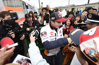 Marc Marquez, Repsol Honda Team con i fan