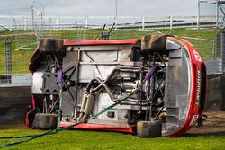 Fabian Coulthard, Team Penske Ford car after his crash