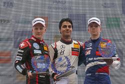 Rookie Podium: Winner Enaam Ahmed, Hitech Bullfrog GP Dallara F317 - Mercedes-Benz, seocnd place Fabio Scherer, Motopark Dallara F317 - Volkswagen, third place Robert Shwartzman, PREMA Theodore Racing Dallara F317 - Mercedes-Benz