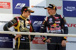 Podium: Esteban Ocon, Prema Powerteam, Max Verstappen, Van Amersfoort Racing