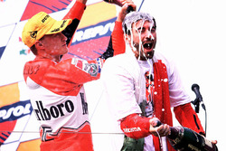 Podium: Ralf Waldmann and Max Biaggi