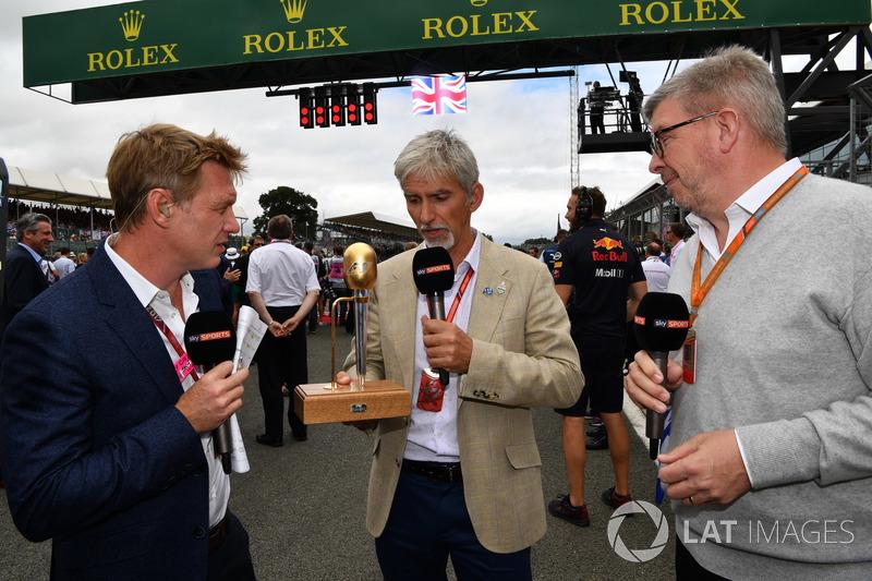 Simon Lazenby, Sky TV, Damon Hill, Sky TV y Ross Brawn, Formula One Director deportivo de Motorsport