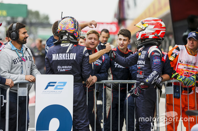 2. Luca Ghiotto, RUSSIAN TIME; 3. Artem Markelov, RUSSIAN TIME