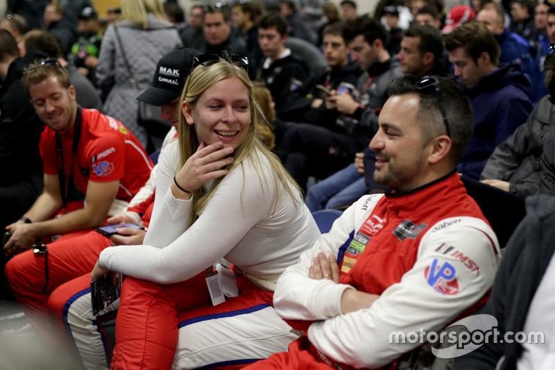 #63 Scuderia Corsa Ferrari 488 GT3: Christina Nielsen, Alessandro Balzan, Sam Bird