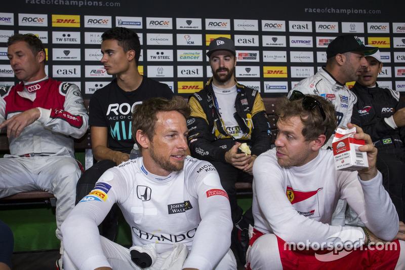 Jenson Button en Sebastian Vettel
