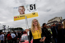 Grid girl de Nico Müller, Audi Sport Team Abt Sportsline, Audi RS 5 DTM