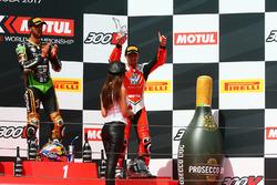 1. Kenan Sofuoglu, Kawasaki Puccetti Racing; 3. P.J. Jacobsen, MV Agusta