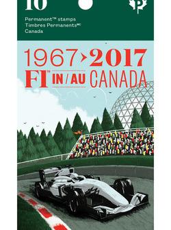 Broschüre für Briefmarken: Formel 1 in Kanada