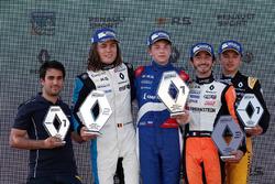 Pemenang balapan, Robert Shwartzman, R-ace GP; runner-up, Max Defourny, R-ace GP; peringkat ketiga, Gabriel Aubry, Tech 1 Racing; rookie terbaik, Max Fewtrell, Tech 1 Racing