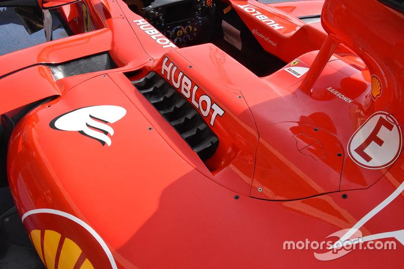 Détails de la carrosserie de la Ferrari SF70H