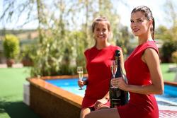 Промо-дівчата шампанського Carbon