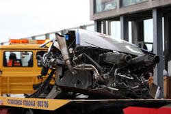 Coche dañado de Alexandre Premat, Audi Sport Team Phoenix