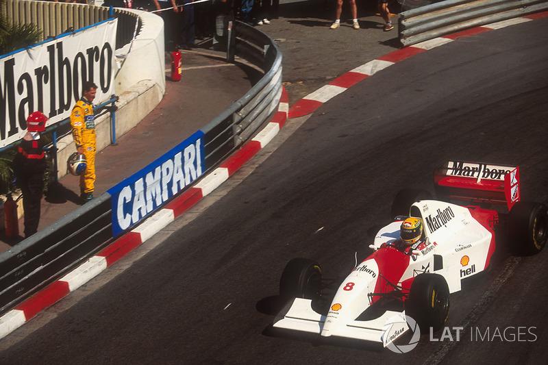 Ayrton Senna, McLaren MP4/8, Michae Schumacher, Benetton Ford