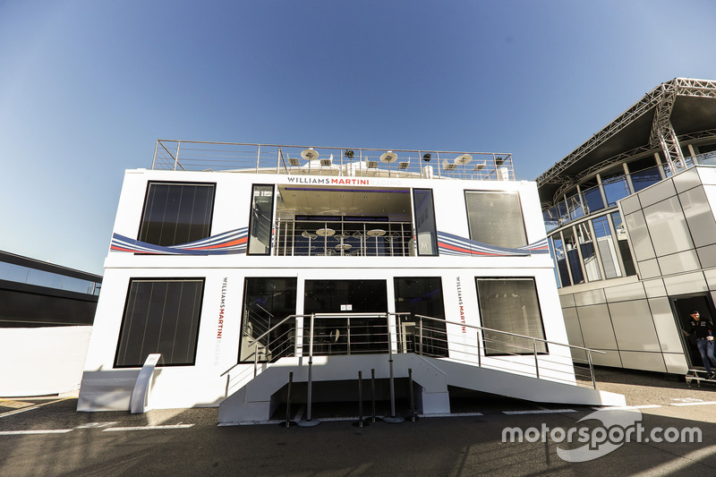 The Williams motorhome in the Paddock