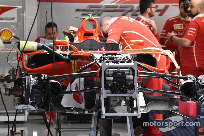 Ferrari SF70H, alerón delantero