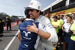 Felipe Massa, Williams, felicita a Lance Stroll, Williams, por sus primeros puntos