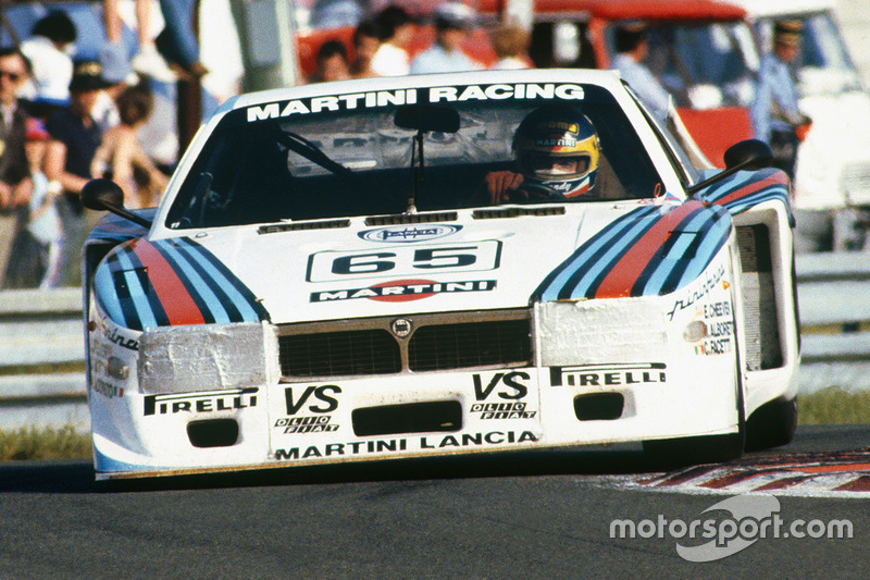 The Lancia Beta Montecarlo Turbo of Alboreto, Cheever and Facetti heads for second in class at Le Mans in 1981.