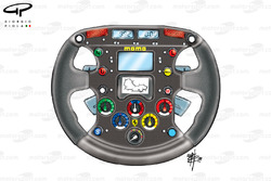 Ferrari F399 (650) 1999 steering wheel