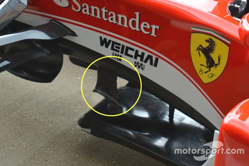 Ferrari SF16-H, under chassis fins