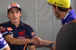 Marc Márquez, Repsol Honda Team y Valentino Rossi, Movistar Yamaha MotoGP